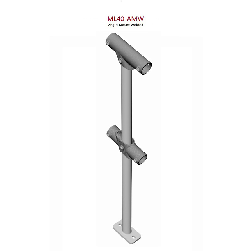 Angle Mount Welded Stanchion Monowills Link Modular Railing