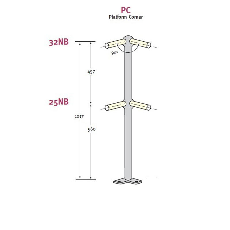 Stanchion Platform Medium Mild Steel
