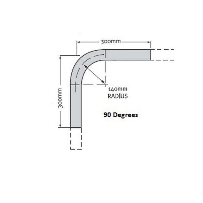 Rail Bend 25NB Medium Mild Steel